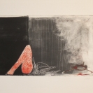 Sans titre 4 2011 Estampes monotypes sur papier chiffon 14,5'' x 11''