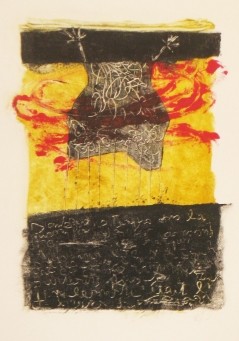 Sans titre 5 2011 monotype sur papier chiffon 9'' x 13''