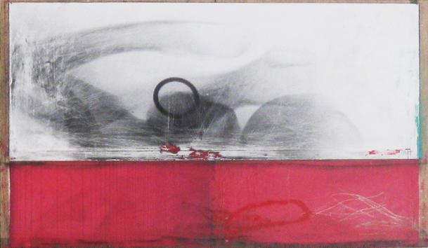 Clavier 2011 Acrylique et technique mixte sur bois 24'' x 14'' Collection particulière