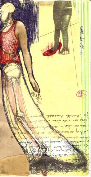 Carnet 2011 2012 Technique mixte sur papier 7.5'' x 13.5''