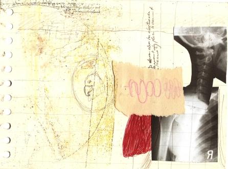 Carnet 2011 2012 Technique mixte sur papier 9,5''x 7.5''