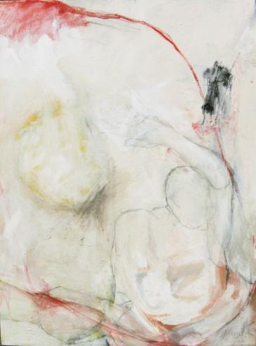 """Esquive 2010 Medium mixte sur toile 36""""x48"""""""