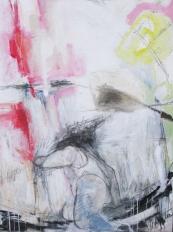 """Perspective de fuite 2010 Medium mixte sur toile 36""""x48"""" Collection privée"""