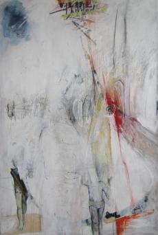 Toboggan 2011 Acrylique et technique mixte sur toile 72'' x 48'' Collection privée