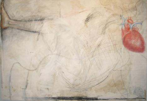 Extrêmes 2011 Acrylique et technique mixte sur bois 72'' x 48''