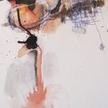 Peur du vide 2008 Technique mixte sur papier chiffon 11'' x 19''