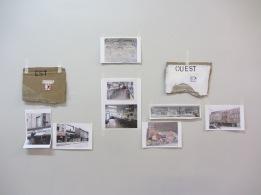 Détail-2 de l'installation (impression numérique, carton, peinture et tehniques mixtes)