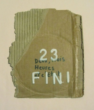 En 2-3 heures c'était fini; Techniques mixtes sur carton