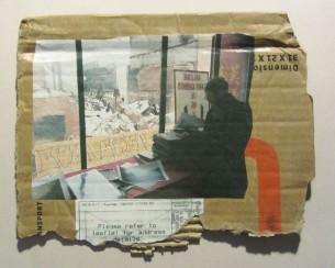 Galerie avec vue; Techniques mixtes sur carton