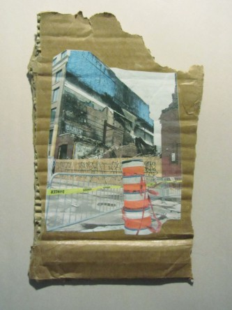 Chinatown, bâtisse disparue; Techniques mixtes sur carton
