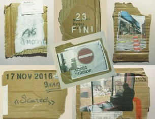17 novembre 2016, 9hAM; Techniques mixtes sur carton